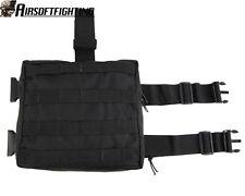 Molle Tactical Drop Leg Panel Utility Pouch - Black