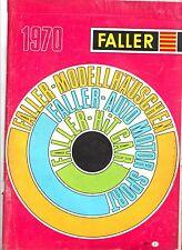 1970 rarissimo CATALOGO FALLER MODELLINI PLASTICI ACCESSORI TRENINI  65 pagine
