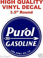 Vintage Style Purol Gasoline Pure Oil Company Co Gas Pump Decal - The Best