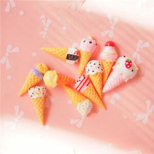 Cute Design Ice Creams Toys Charms Plastic Phone Decoration Supply 10pcs