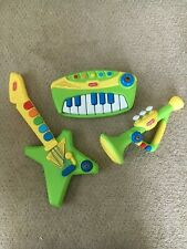 WolVol 3-Piece Band Musical Toy Instruments - Guitar, Piano, Trumpet
