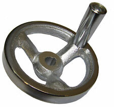 RDGTOOLS 100MM MACHINE HAND WHEEL HEAVY DUTY CAST IRON 12MM BORE AND KEYWAY