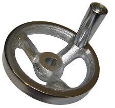 RDGTOOLS 100MM máquina rueda de mano de hierro fundido pesado deber 12MM De Diámetro Y Chavetero