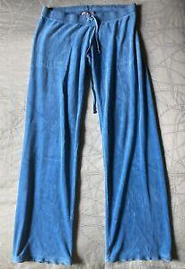 Juicy Couture Blue Velour Sweatpants , Size M