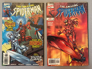 AMAZING SPIDER-MAN #430 & 431 CARNAGE SILVER SURFER CLASSIC