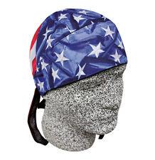 USA American Flag Biker Platinum Doo Rag Durag Skull Cap Sweatband Capsmith