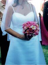 Organza Handmade Sleeve Wedding Dresses