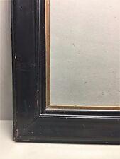 Schellackrahmen Holz schwarz um 1900 goldene Innenleiste /R26/7