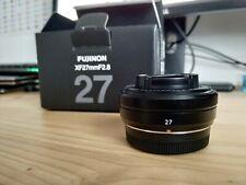 FUJIFILM FUJI FUJINON XF 27mm f/2.8 X Mount Prime Pancake Lens F2.8 Brand New