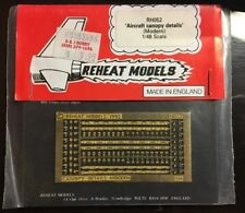 Aircraft Canopy Details (Modern)  photo-etched Reheat Models 1/48 scale set#RH52