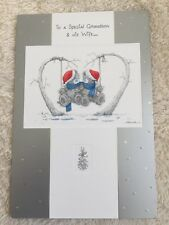 """Grandson And His Wife ""ME TO YOU TATTY TEDDY CHRISTMAS CARD FROM 99p"
