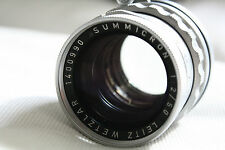 Leica Rigid Summicron 50mm f2 M39 LTM Screw - Top Condition, Perfect Glass