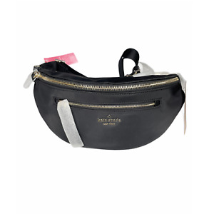Kate Spade Woman's  chelsea Black Nylon belt bag Fanny Bag