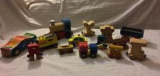 14 Wooden Trains �� Letters Vintage & Modern Mixed Collection