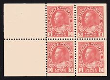 """1923 Canada SC# 109a King George V """"Admiral"""" Issue-booklet pane Lot#005-M-NH"""