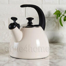 ENAMEL Carbon Steel WHISTLING Kettle Electric Gas HOBS Fresh Fusion 2.5L CREAM