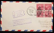 1929 US FDC Air Mail Ohio River Canalization 4 Blk C.A.M. Cover