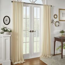 "Sidonie Textured Chiffon Single Curtain Panel by Lark Manor 84"" L X 52"" W IVORY"
