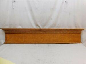 1900's Antique DOOR PEDIMENT Lintel Header VICTORIAN Style Egg & Dart Oak ORNATE