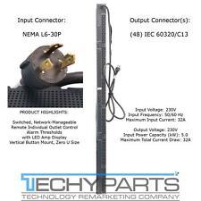 Server Technology CW48VM-2CBN55AC 5kW 230V L6-30P 48-Outlet C13 Switched PDU