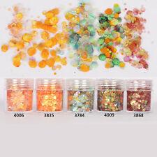10ml/Box Nail Art Glitter Tips Orange Red Mixed Sequins Powder Decoration