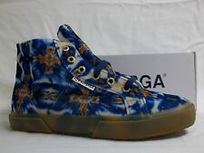 Superga Size 8 M VELVETOLMOW Brown Blue High Top Sneakers New Womens Shoes