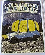 Death Cab for Cutie Mini Concert Poster Reprint for 2009 Seattle WA 14x10