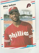 FREE SHIPPING-MINT-1988 (PHILLIES) Fleer #306 Mike Jackson RC