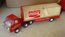 Vintage 1970s Buddy L Coca Cola Delivery Tractor Trailer Truck
