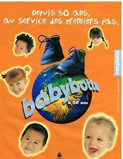Publicité Advertising 1999 Les Chaussures pour enfants Babybotte