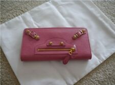 NWT 100% AUTH Balenciaga Giant 12 Golden Money Lambskin Wallet Pink $650