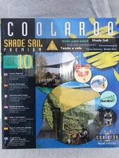 Toldo vela triángulo Coolaroo 3,6 x3, 6x 3,6 metros de arena nuevo
