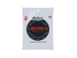 Martin Strings : Martin Retro Strings Light Monel 12-54