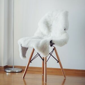 Genuine Sheepskin Natural Ivory White, Approx. Size 22 x 30 in.