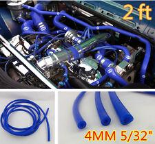 "Blue 4MM 5/32"" Vacuum Silicone Hose Turbo Intercooler Coupler Pipe Turbo-2 feet"