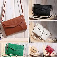 Ladies Retro Messenger Envelope Tote Crossbody Shoulder Bag Purse Clutch Handbag