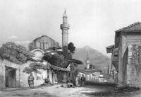Greece, PATRAS LIGHTHOUSE CASTLE CHURCH ~ Antique Old 1832 Art Print Engraving