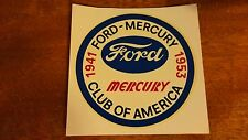 1941 Ford-Mercury 1953 club of america decal