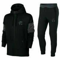 Nike Air Tracksuit Fleece Hoodie Joggers Sweatpants Hoody Bottoms Black New Mens