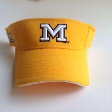University of Michigan Wolverines Adult Yellow Sun Visor - Brand NWT Golf Hat