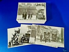 More details for 100 vintage repro 4 types of 25 each london buses postcards, ww1 troops, kgv