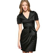 New Size 10 UK KAREN MILLEN Black Safari Trench Style Shirt Dress Office Evening