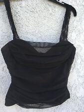 Vintage BCBG mesh lace top, clubwear, corset, bustier, goth, punk, rock