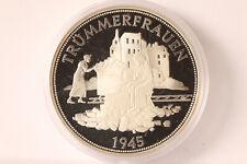 Gedenkmünze Trümmerfrauen 1945 Deutschland 2000  40mm Silber  PP (128360)