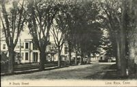 Lime Rock CT A Shady St. c1905 Postcard rpx