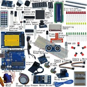 Ultimate starter kit for Arduino UNO R3 1602 LCD SERVO MOTOR BREADDBOARD LED- AU
