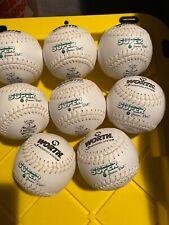 """10 Worth 11"""" Asa Super Green Dot White Softball, Sxw11wla, Asa-4795"""