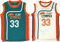 Jackie Moon #33 Flint Tropics Semi Pro Throwback Basketball Jersey Embroidery