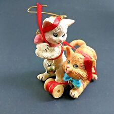 Carlton Christmas Ornament 1997 Merry Mischief Makers Cat Kitten #2 2nd Rare