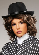 Womens 1920s Peaky Blinders Style Polly Wig and Gangster Hat